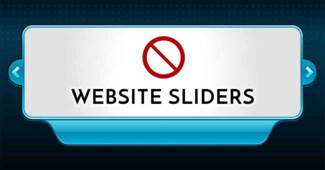 Why sliders are bad for website design